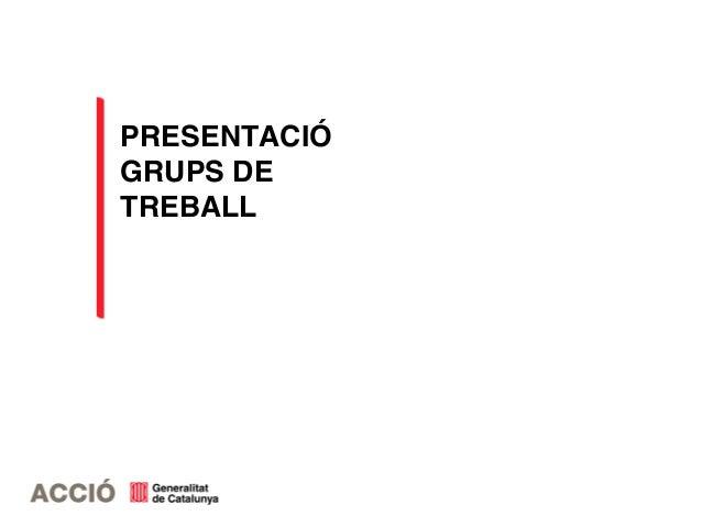PRESENTACIÓ GRUPS DE TREBALL