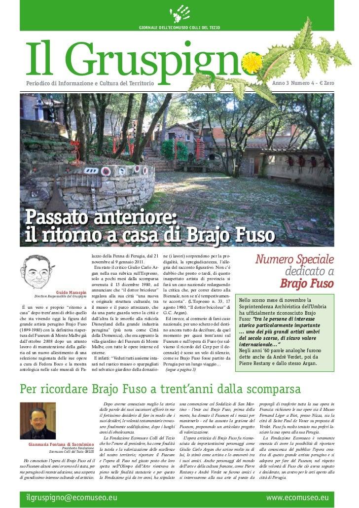 Gruspigno. L'ultimo numero tutto dedicato a Brajo Fuso.