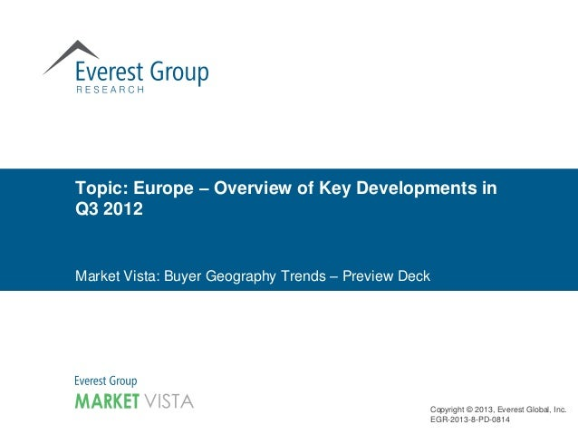 Europe: Buyer Geography Trends for Q3 2012