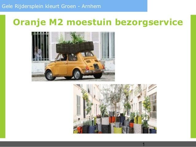 1Gele Rijdersplein kleurt Groen - ArnhemOranje M2 moestuin bezorgservice