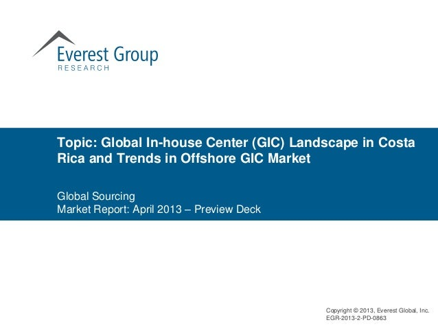 Topic: Global In-house Center (GIC) Landscape in CostaRica and Trends in Offshore GIC MarketGlobal SourcingMarket Report: ...