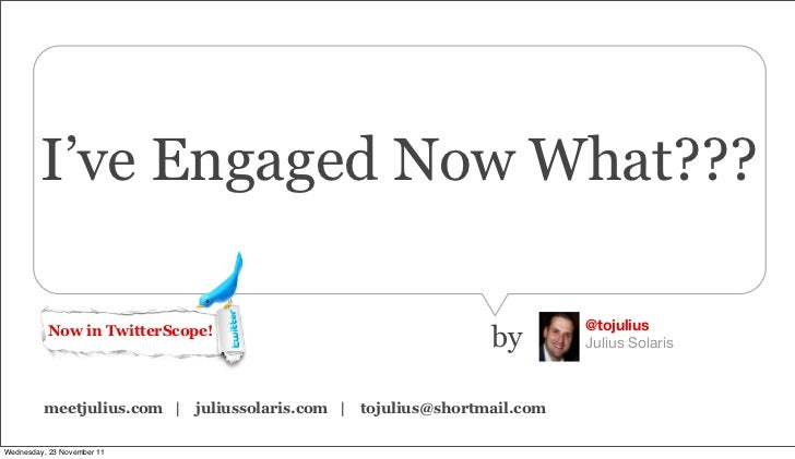 I've Engaged Now What - A Social Advertising Overview