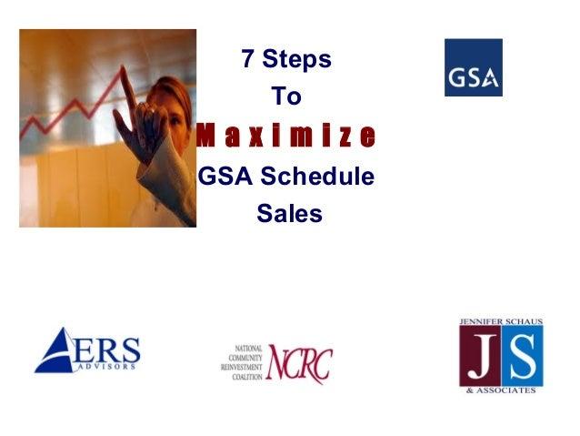7 Steps     ToMaximizeGSA Schedule   Sales
