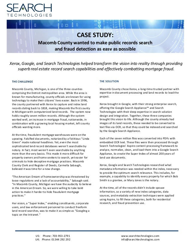 A GSA Case Study: Xerox and Macomb County