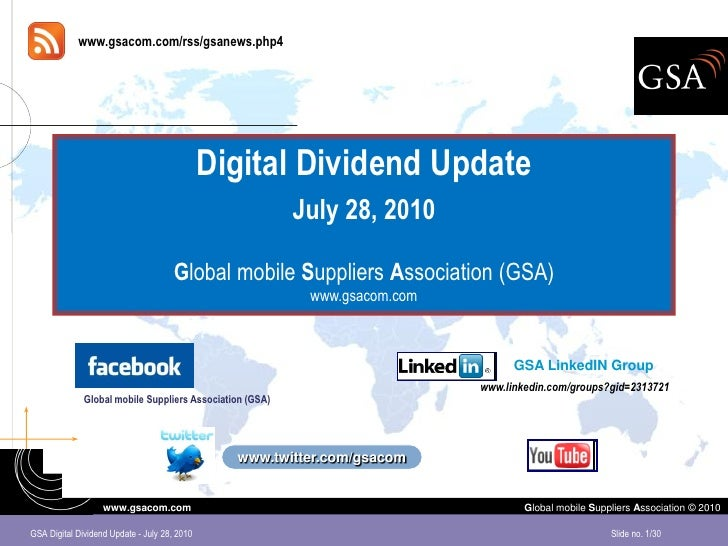 Digital Dividend Update July 2010