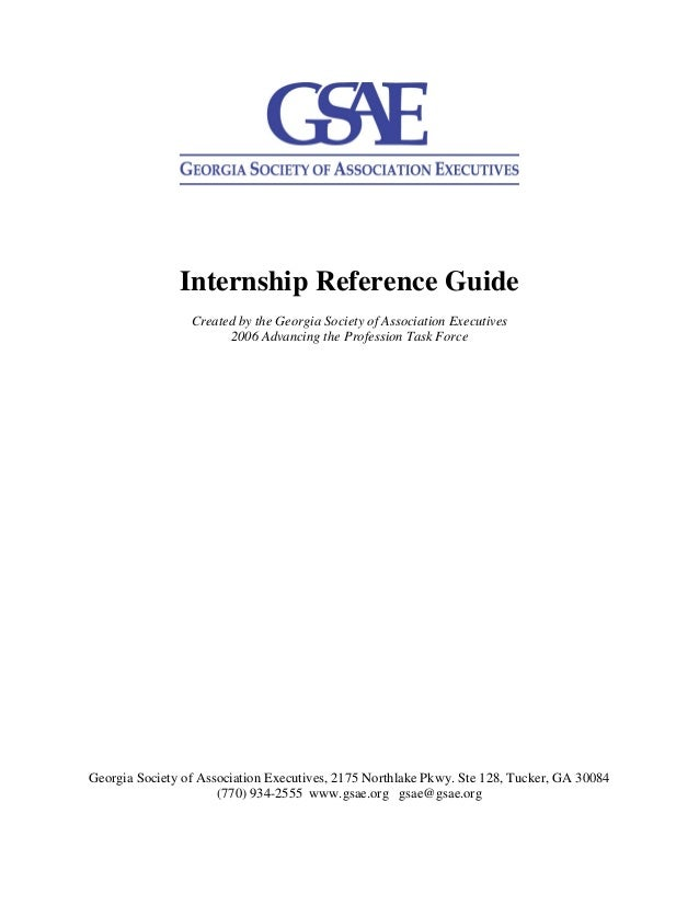 Gsae internship reference guide