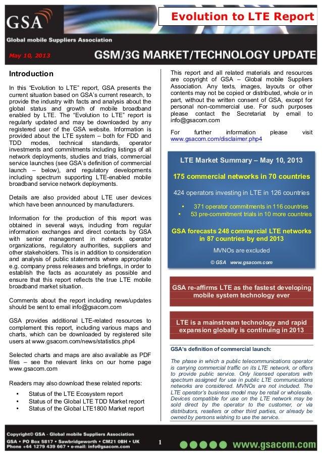 GSA 4G Raporu-Mayıs 2013