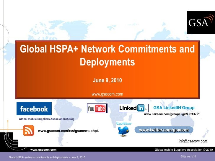 Global HSPA+ Network Commitments and                      Deployments                                                     ...