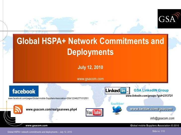 HSPA Evolution (HSPA+) overview July 2010