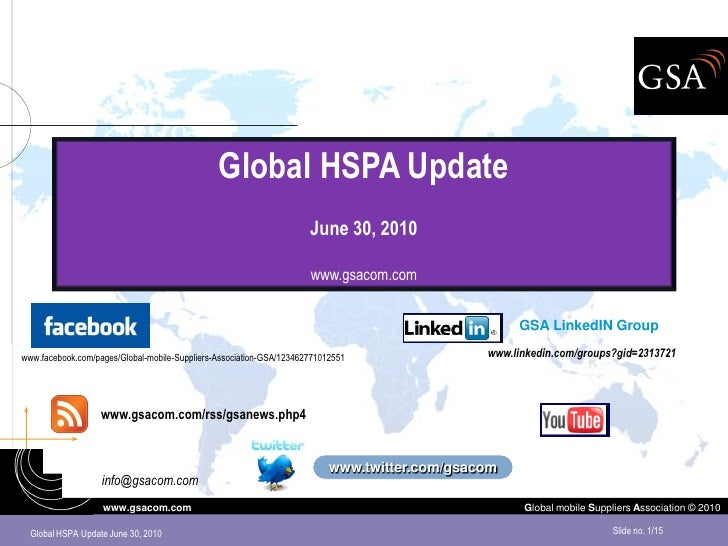 Global HSPA Update                                                                      June 30, 2010                     ...