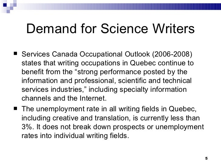 Careers involving science and english/writing?