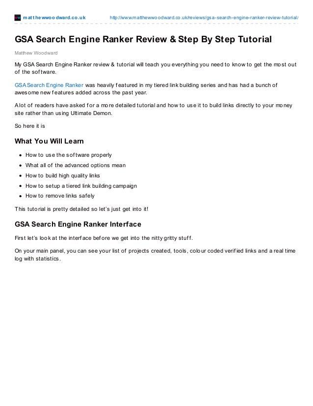 mat t hewwoodward.co.uk http://www.matthewwoodward.co.uk/reviews/gsa-search-engine-ranker-review-tutorial/ Matthew Woodwar...