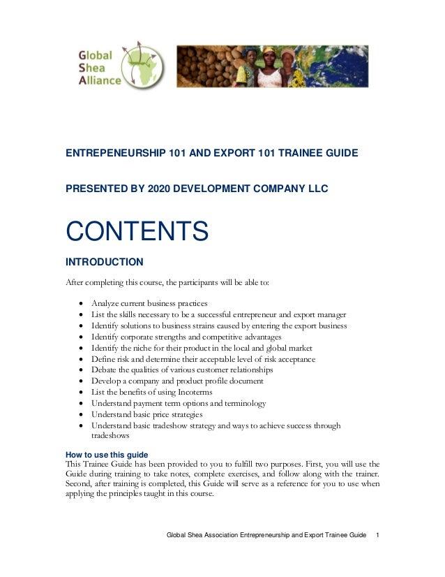 Guide to Entrepreneurship