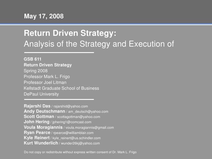 Gsb 611 Return Driven Strategy Presentation On Omnicom Group