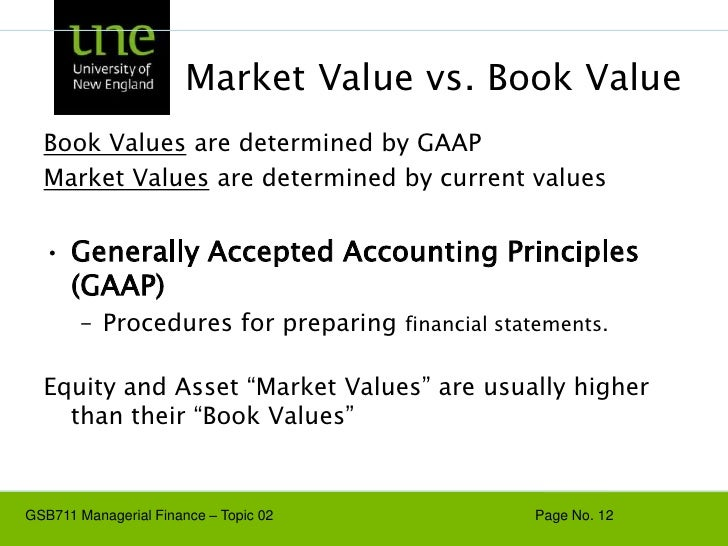 generally accepted accounting principles and equity