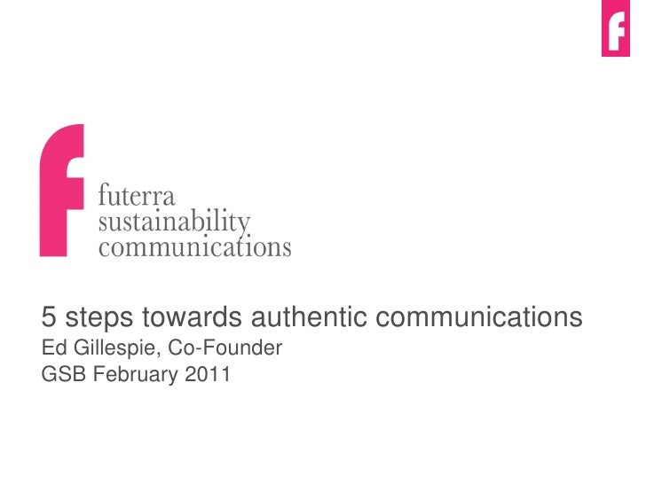 5 Steps to authentic sustainability communications