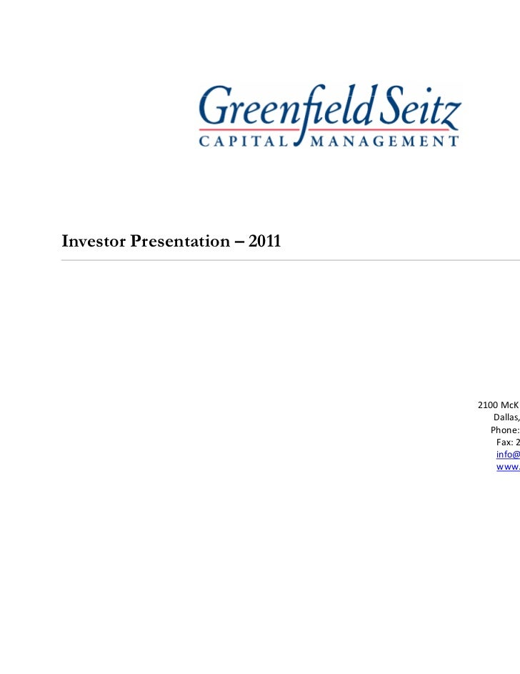 GSCM Presentation 2011