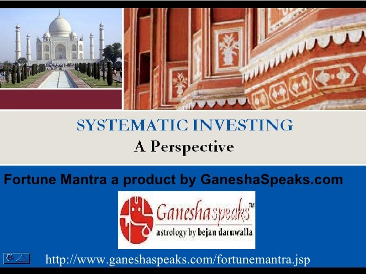 Systematic Investment – A perspective