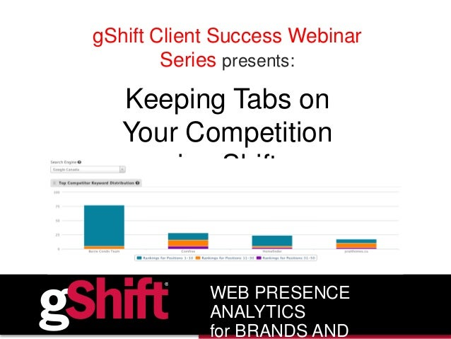 gShift Client Success Webinar Series presents: Keeping Tabs on Your Competition in gShift WEB PRESENCE ANALYTICS for BRAND...