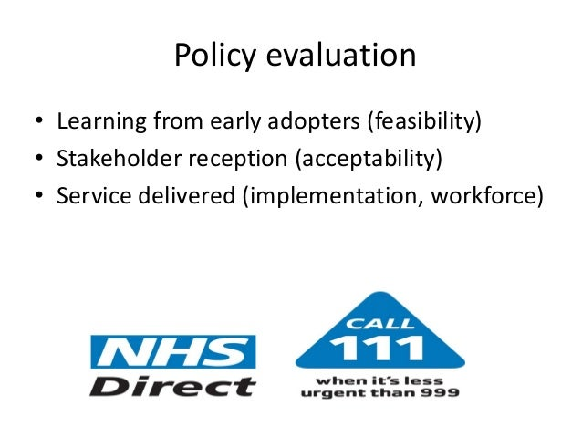 O Cathain Policy evaluation   Learning