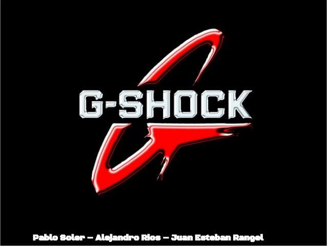 G-Shock 3D Branding Exercise