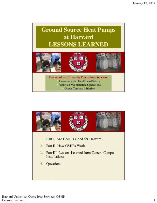 Harvard Geothermal Case Study