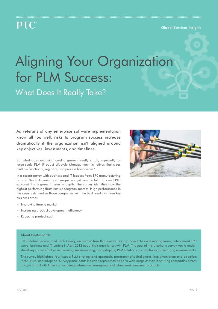 Global Services InsightsAligning Your Organizationfor PLM Success:What Does It Really Take?As veterans of any enterprise s...