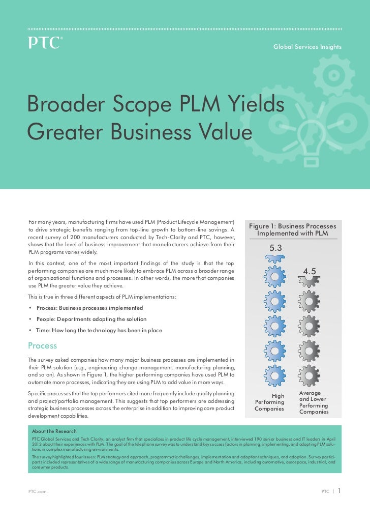 Global Services InsightsBroader Scope PLM YieldsGreater Business ValueFor many years, manufacturing firms have used PLM (P...
