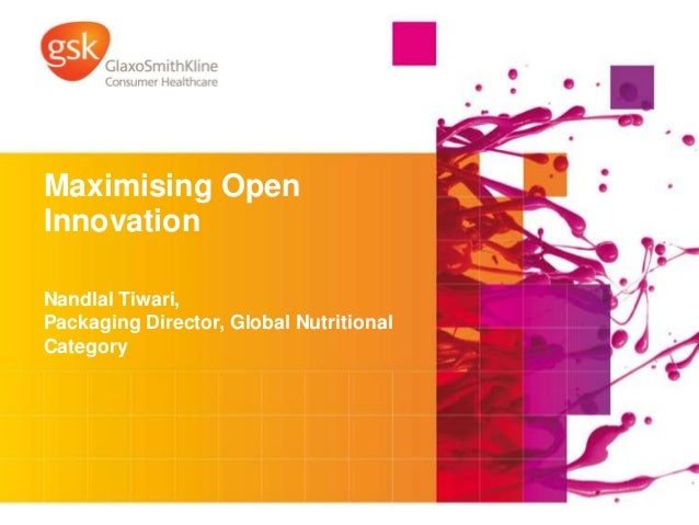 MAXIMISING OPEN INNOVATION BY WORKING WITH SUPPLIERS by GlaxoSmithKline