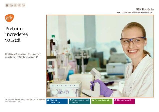 Raport CSR GSK Romania 2012