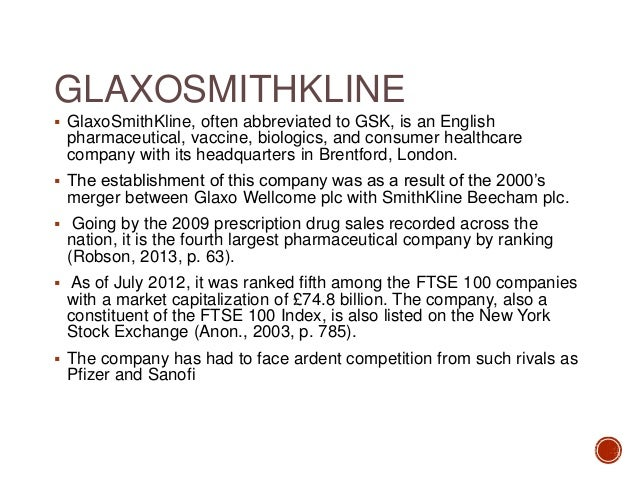 gsk merger case study A new case study published today by e-rewardcouk shows how glaxosmithkline has used the opportunity presented by a merger to refocus its employees' attention on both the need for and the rewards resulting from superior performance, and the value of the other benefits they receive.