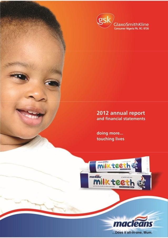 GSK Nigeria financial report 2012