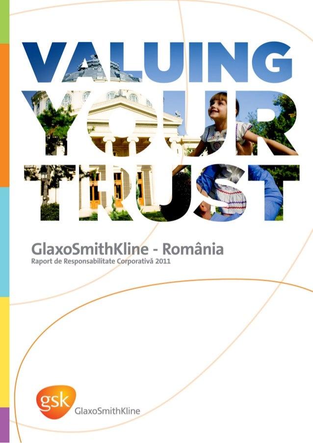 Raport CSR GSK Romania 2011