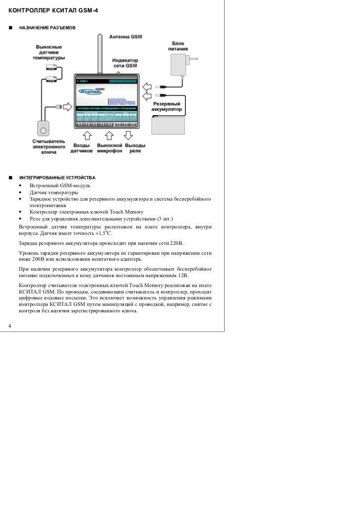 GSM-модуль • Датчик