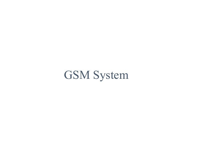 Gsm system and radio frequency
