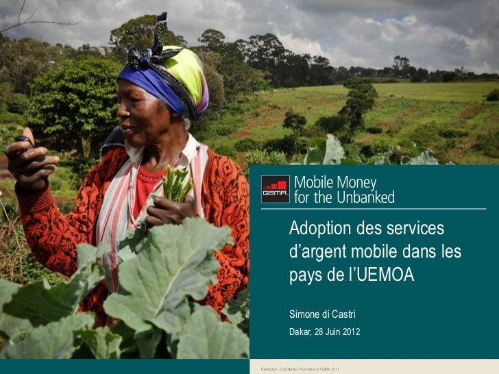 GSMA MMU: Consultation sur l'argent mobile de la bceao - Juin 2012
