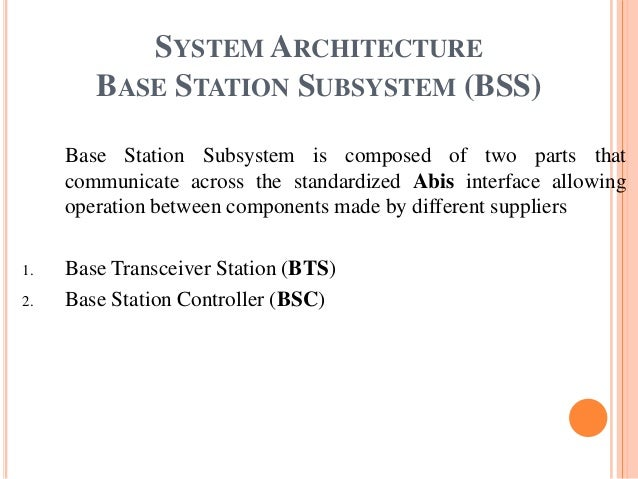 Base Transceiver Station Ppt Base Transceiver Station