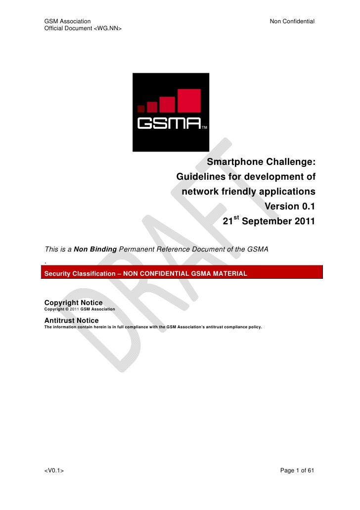 Smartphone Challenge: Guidelines for development of network friendly applications