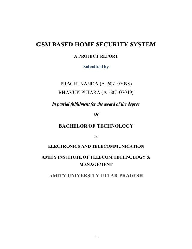 gsm based home security project essay