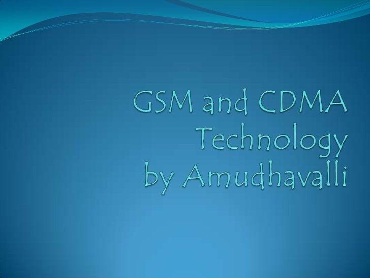Gsm&cdma