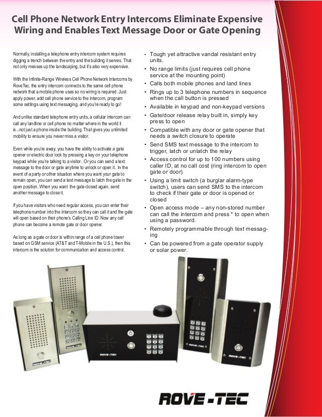 GSM Intercom System
