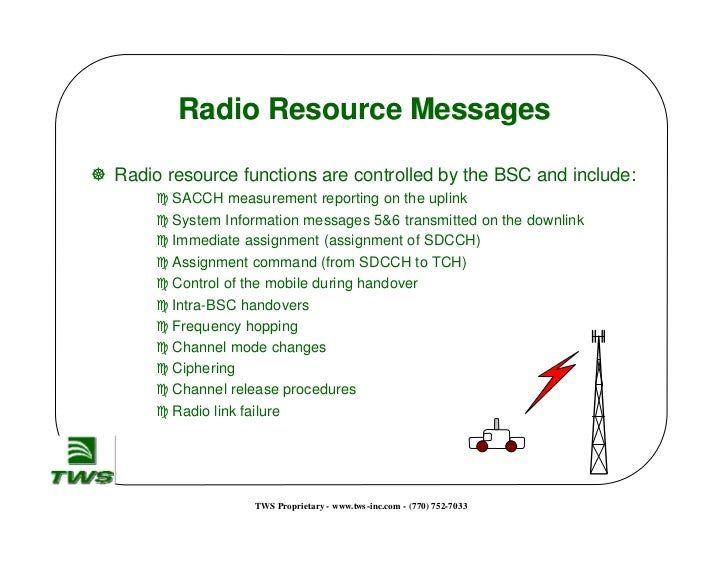 radio link failure in gsm and Typical radio problems cause radio interface failure – other man-made radio transmission – illegal usage of gsm frequencies.