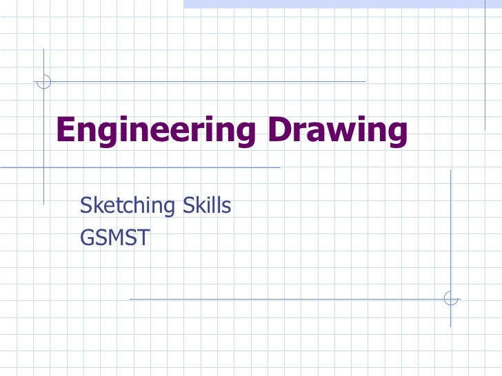 Engineering Drawing Sketching Skills GSMST
