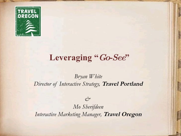 Leveraging GoSeeOregon.com