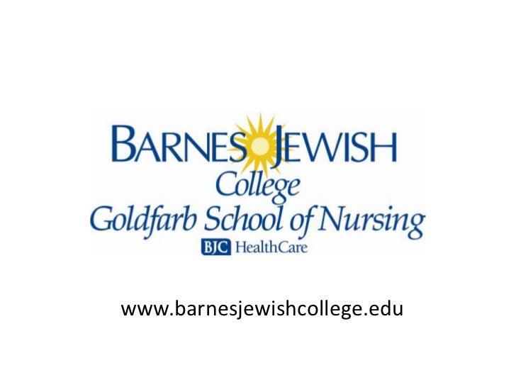 www.barnesjewishcollege.edu<br />