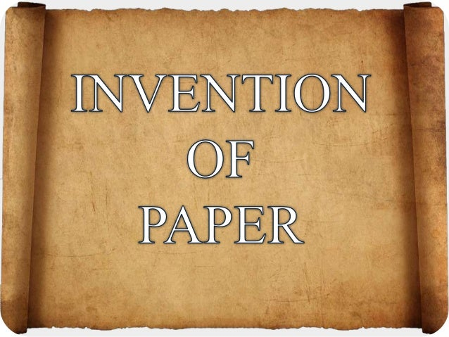 When was paper invented
