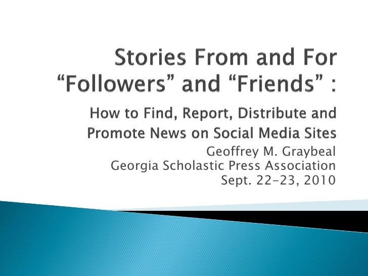 GSPA Social Media Presentation