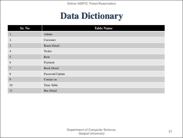 Ontario northland bus tickets related keywords for Data dictionary