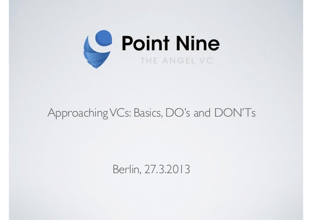 GS seminar approaching vc basics 20130327