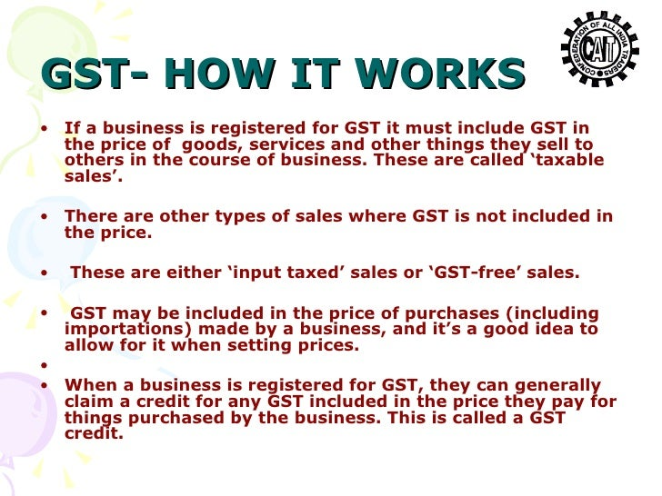 how to make the gst work